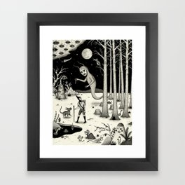 It Followed Him Out of the Woods Framed Art Print
