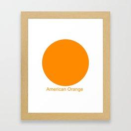 American Orange Framed Art Print