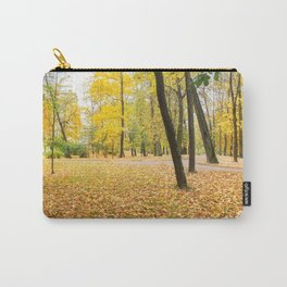 Yellow autumn park. Carry-All Pouch