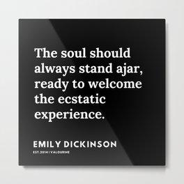 19    | Emily Dickinson Quotes | 191130 Black Metal Print