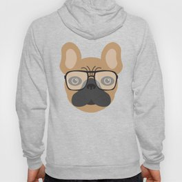 French Bulldog With Glasses Hoody