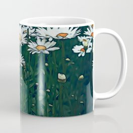 White Field Of Daisies Coffee Mug