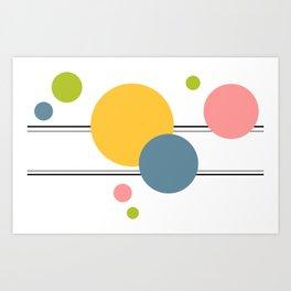 Circles In Transit, Happy Pastels Art Print