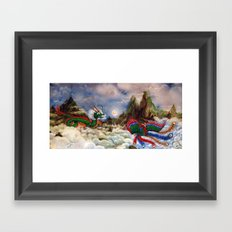 Dragon and Pheonix Framed Art Print