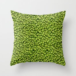 Green Peas Texture No1 Throw Pillow