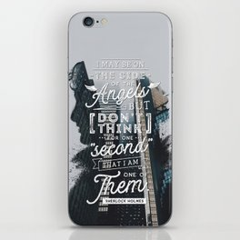 Sherlock - Angels iPhone Skin