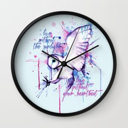 Live Without The Sunlight Owl Wall Clock