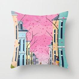 Aldstadt, Bonn ft. Cherry Blossom Throw Pillow