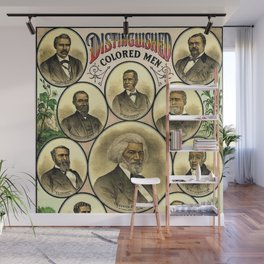 Vintage 1883 African American 'Distinguished Men of Color Poster by A. Muller & Co. Wall Mural