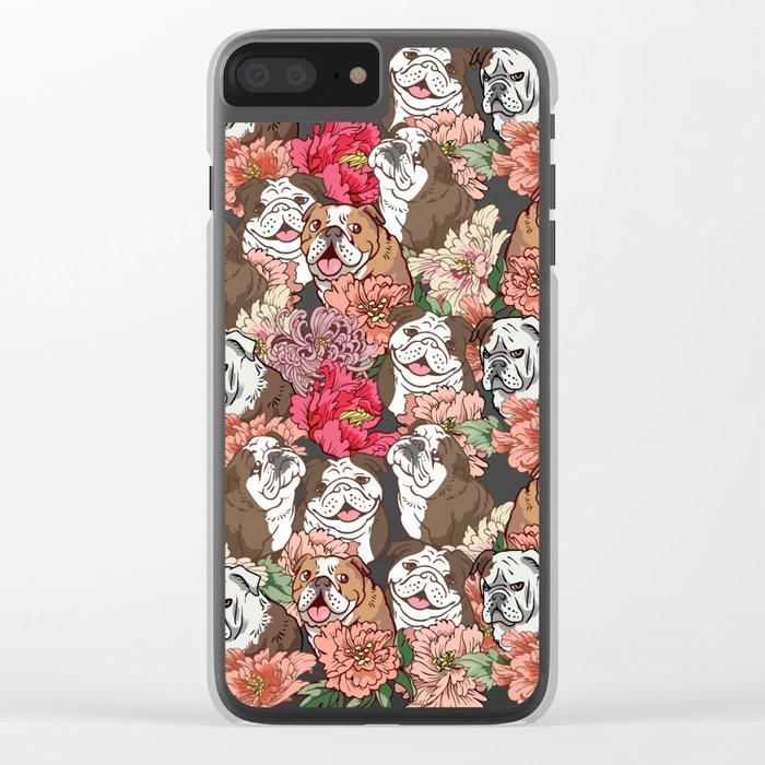 Because English Bulldog Clear iPhone Case