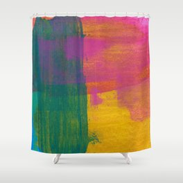 Abstract No. 383 Shower Curtain