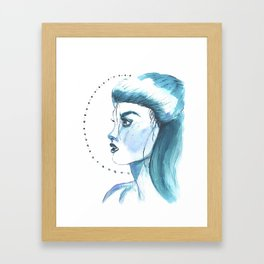 Emma Carstairs in blue Framed Art Print