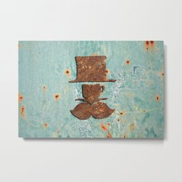 Rusty coffee shop sign Metal Print