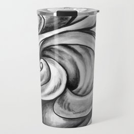 Swirl (Gray) Travel Mug