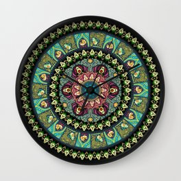Avocado Yoga Medallion Wall Clock