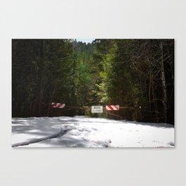 Road Closed Canvas Print