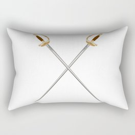 Crossed Infantry Swords Rectangular Pillow