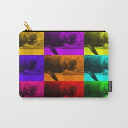 Chilly da Cat Collage POP ART Carry-All Pouch