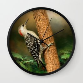 Red Bellied In Search of Food Wall Clock