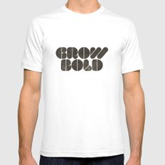 GROW BOLD Mens Fitted Tee White SMALL