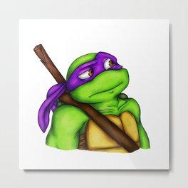 Quizzical Donatello Metal Print