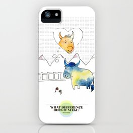 LOVE IN OUR OPINION - WHAT DIFFERENCE DOES IT MAKE? iPhone Case