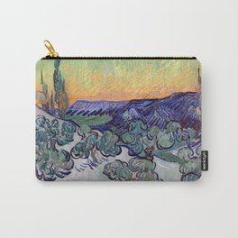 Vincent Van Gogh - A Walk at Twilight 1890 Artwork Reproduction Carry-All Pouch