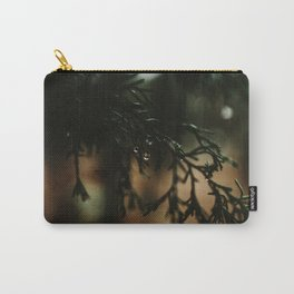 Water Drops from Winter Fir Branch Carry-All Pouch