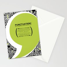 Punctuation [Appreciation]. Stationery Cards