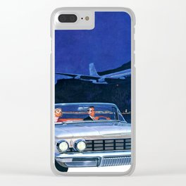 Chilling Retro Couple Clear iPhone Case