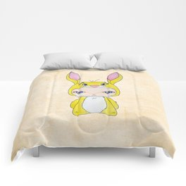 A Boy - Rabbit (coco lapin) Comforters