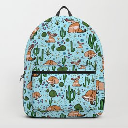 Cute Desert and Fennec Fox Pattern Backpack