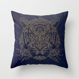 Ornamental Tiger Throw Pillow