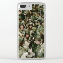 Ghosts of D Day, WWII Clear iPhone Case