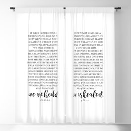 we are healed. Isaiah 53 Blackout Curtain
