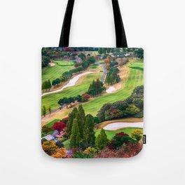 Autumn Golf Course Tote Bag