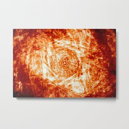 Flare - Red-Orange Fire Digital Abstract Metal Print