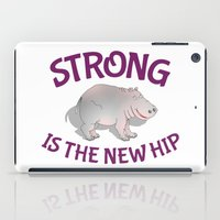fitness iPad Cases featuring Hippo Fitness by mailboxdisco