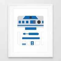 r2d2 Framed Art Prints featuring r2d2 by heartfeltdesigns by Telahmarie