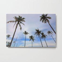 Tropical Palm Tree Landscape Metal Print