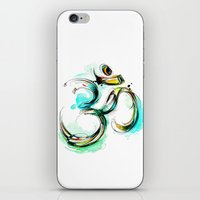 ohm iPhone & iPod Skins featuring Ohm by Abby Diamond