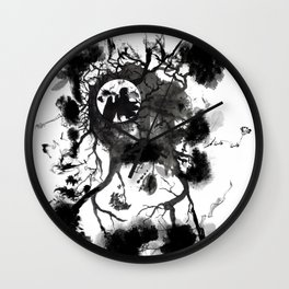 Black Angel Wall Clock