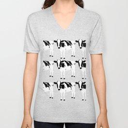 Cow Pattern Unisex V-Neck