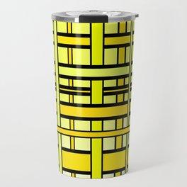 Yellow grid Travel Mug