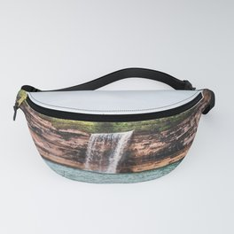 Water Fall at Pictured Rocks, Michigan Fanny Pack