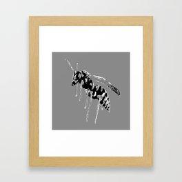 GREY WASP Framed Art Print