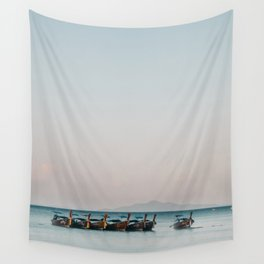 Boats on the Andaman Sea Wall Tapestry