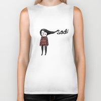 sad Biker Tanks featuring Sad by Tuesday Alissia