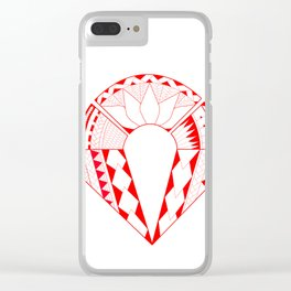 tribal creation Clear iPhone Case