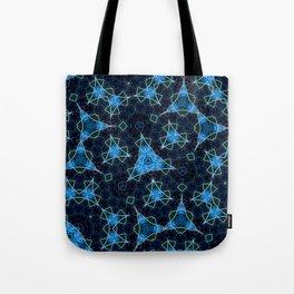 Blue elegant magic pattern Tote Bag